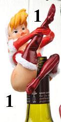 Julpinuppa för flaska