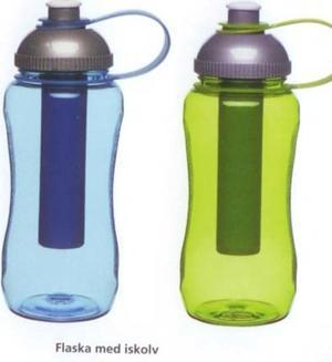 Vattenflaska med kylklamp